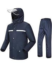 Mkulxina Long Manteau imperméable Adulte de Coupe-Vent pour la randonnée Alpinisme Raincoat de Voyage Coupe-Vent Sports et Loisirs