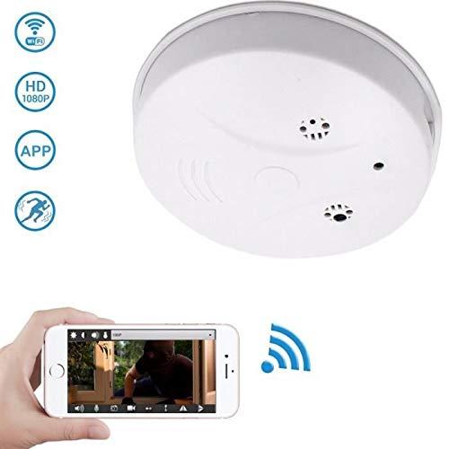 Uyuke Detector Humo cámara WiFi HD 1080P Mini Alarma