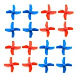 wosky 4 Sets 4-blade FPV Propeller Red / Blue CW CCW Props for Tiny Whoop Inductrix H36 E010 RC Micro Quadcopter