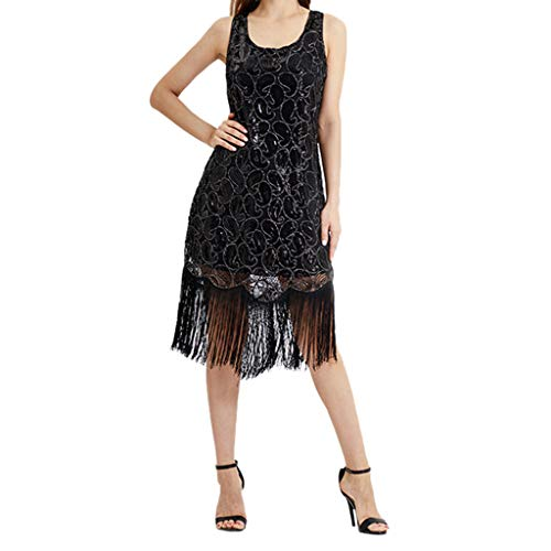 Kleider Damen,SANFASHION Damen Kleid Retro 1920s Stil