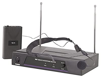 Wireless Headset Microphone System Ideal For Aerobics, Churches & Schools