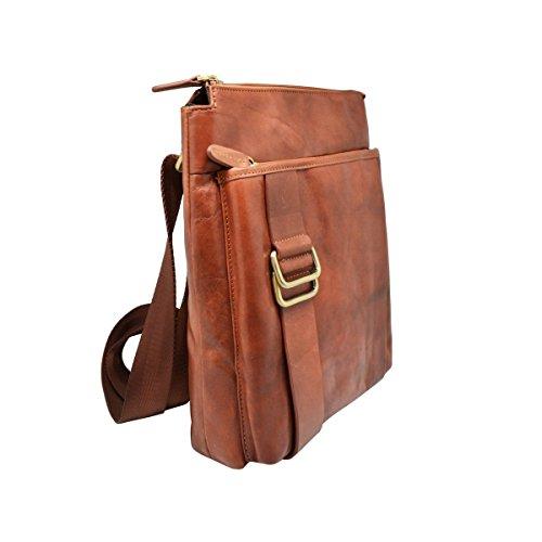#MYITALIANBAG , Sac pour homme à porter à l'épaule, marron clair (marron) - 83012TAN marron foncé