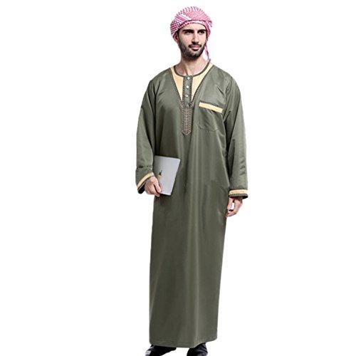 Dishdasha Kostüm (Haodasi Herren Arabien Muslim Kostüme Kleidungsstück Thobe Robe)