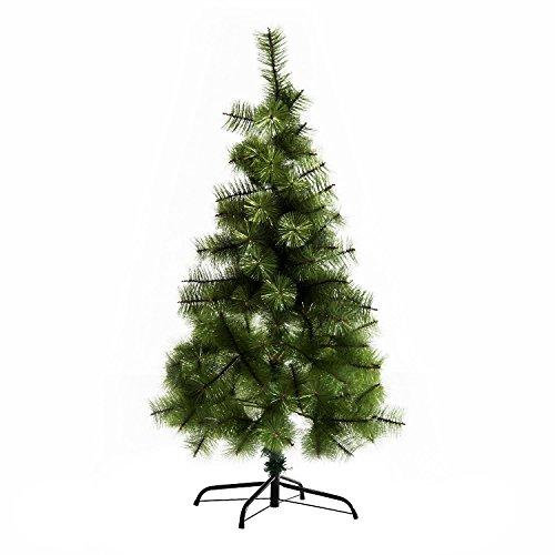 Homcom albero di natale artificiale altezza 120cm con 124 rami folti verde