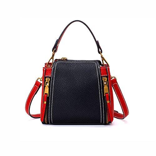 HYLR Il sacchetto di spalla della borsa di zaino delle signore di modo della nuova Corea di modo per il materiale delle donne dell'unità di elaborazione rosso