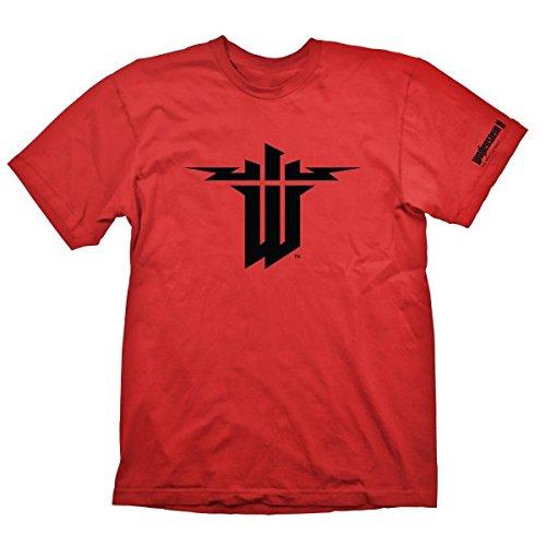 Preisvergleich Produktbild T-Shirt Wolfenstein 2 - Symbol [rot,  S]