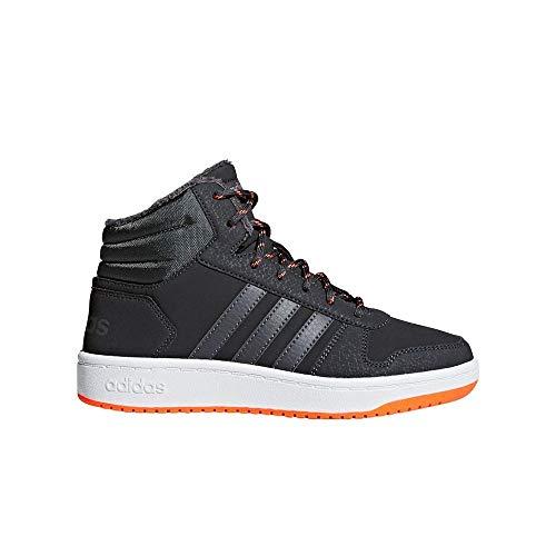 adidas Unisex-Kinder Hoops Mid 2.0 Basketballschuhe Grau Carbon/Grefiv/Hireor, 33 EU