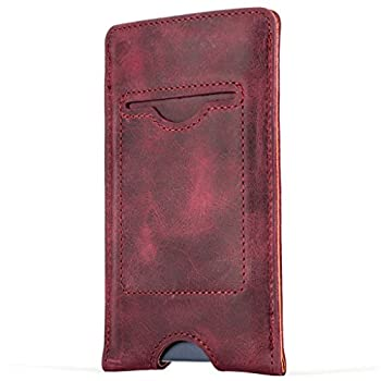 Snakehive® Vintage Collection Samsung Galaxy A5 Pouch Case Cover In Nubuck Leather With Credit Card Note Slot (Plum) 1