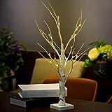 Là Vestmon 60CM 24LEDWarm weiße LED batteriebetriebene Birkenbaum Licht Tischplatte Baum Licht Schmuck Halter Dekor für Home Party Hochzeit