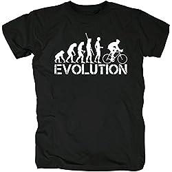 TSP Bicicleta Evolution Camiseta para hombre T-Shirt S negro