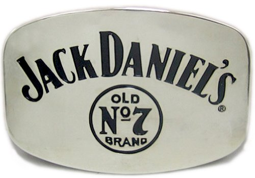 Buckle Jack Daniels Old No. 7, Chrom, Tennessee Whiskey Gürtelschnalle -