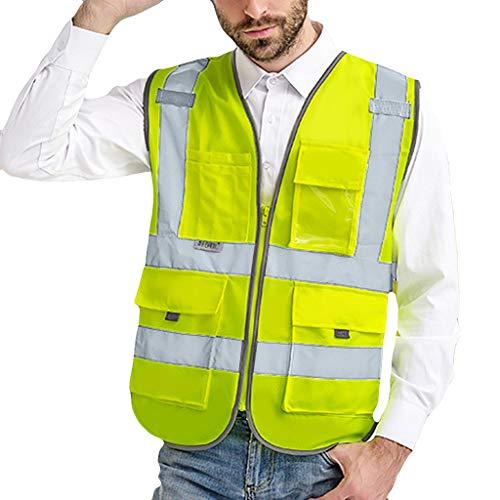 sunnymi  Herren Hosen, Road Work Warnschutz Pullover Langarm Kapuzenpullover Tops Bluse - Königin Blatt Camouflage