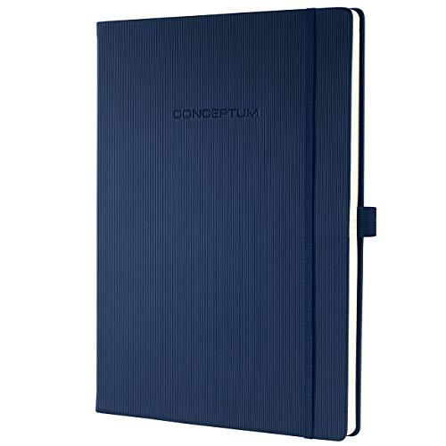 Sigel CO646 Notizbuch, ca. A4, kariert, Hardcover, dunkelblau, 194 Seiten, CONCEPTUM - weitere Modelle