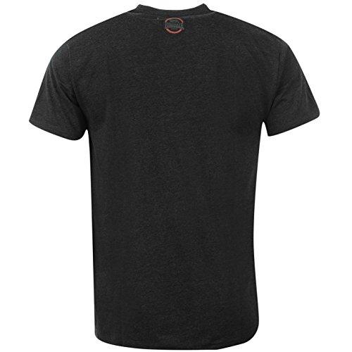 Lonsdale Herren Box T-Shirt Kurzarm Rundhals Freizeit Tee Top Sportshirt Dunkelgrau