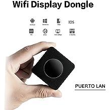 Dongle Miracast, 5G&2.4G Dual Wifi 1080P HD Display Adaptador Inalámbrico Receptador de Pantalla Dual Salida HDMI+AV Airplay Soporta DLNA para iOS iPhone iPad/Android Smartphones/Windows/Macbook