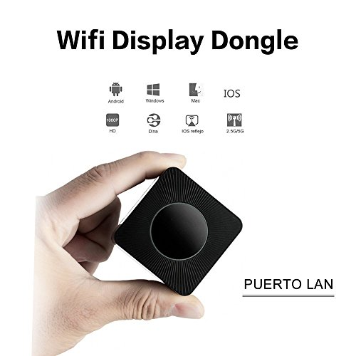 Foto de Dongle Miracast, 5G&2.4G Dual Wifi 1080P HD Display Adaptador Inalámbrico Receptador de Pantalla Dual Salida HDMI+AV Airplay Soporta DLNA para iOS iPhone iPad/Android Smartphones/Windows/Macbook