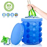 HUHUDAY Ice Genie Ice Cube Maker 2 in 1 Silicone…