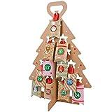 SHACAMO Adventskalender Weihnachtsbaum zum Selbst Basteln und Befüllen