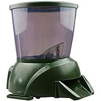 Cacoffay Alimentador De Peces De Estanque Automático Alimentador De Peces De Acuario De Pilas Programable Auto Temporizador De Alimentos Para Peces