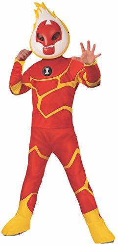Ben 10 Deluxe Heatblast Child Costume - Medium (Ben 10 Kostüm)