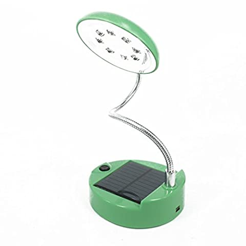 Andux Zone USB Solar Power 8 LED Light Reading, scrivania Lampada solare CS-TD01 (vert)