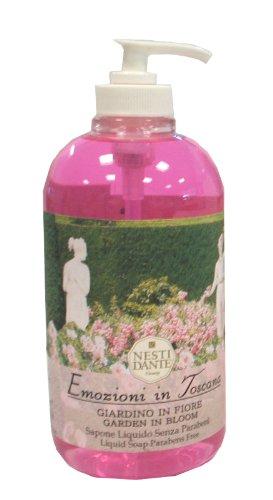 Nesti Dante Liquid Soap Emozione in Toscana Garden in Bloom, 1er Pack (1 x 500 ml) - Bloom Liquid