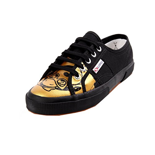 Superga 2750 Fancot Belle Onomato W Negro Gold Black