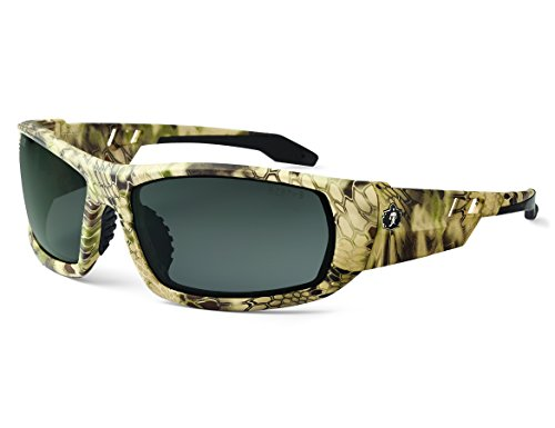 Ergodyne Skullerz Odin Safety Sunglasses - Kryptek Highlander Frame, Smoke Lens