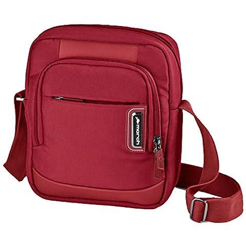 MARCH 15 Business Umhängetasche Rolling Schultertasche 0,5 kg Rot 26x22x8cm NYLON Tasche Bowatex