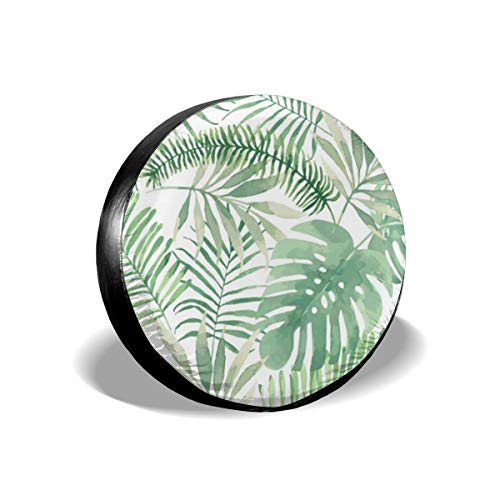 TGSCBN Summer Beach Palms11 14-17 Inch Tire Covers Tire Protection Wheel Tyre Storage Bag -