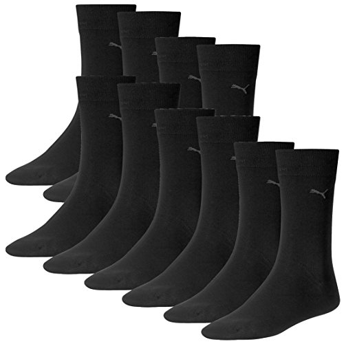 PUMA Herren Classic Casual Business Socken 10er Pack (Black, 47-49) -