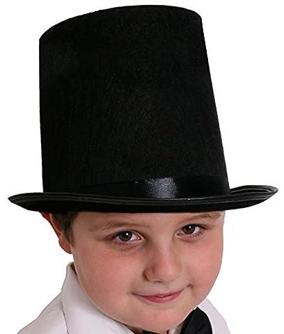 CHILDS TOP HAT FANCY DRESS ACCESSORY 55CM HAT VICTORIAN GENT COSTUME KIDS RICH TOFF (Cappelli Vittoriani Per Le Donne)