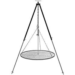 Schwenkgrill Dreibein 1,8 m Kettenhöhenverstellung mit Grillrost Edelstahl 70 cm