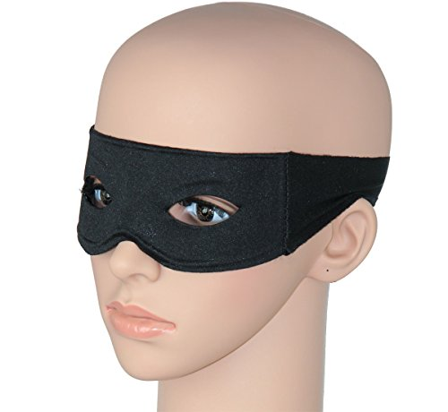 Express Feiern Kostüm - Foxxeo Schwarze Augenmaske für Kostüm Party Maske für Bandit oder Gangster schwarz
