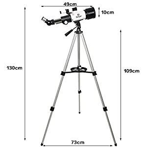 Gskyer AZ70400 Telescope, Travel Scope, 70mm Aperture 400mm AZ Mount Astronomical Refractor Telescope for Kids Beginners