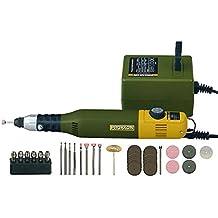 Proxxon Modelo Bauer de y grabado set con MicroMOT, 1pieza, color verde/negro/amarillo/plata/rosa/marrón, 28515