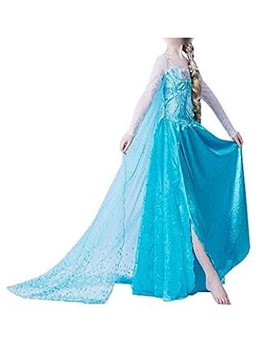 Ghope enfant fille Robe Costume Fancy Dress Anime Cosplay Princesse Adulte Jupe Soirée Dansante Cocktail Boule 01 2 ans (hauteur 90-100cm)