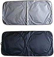 Car Windshield Sunshade Cover Sliver 150cm*70cm Folding UV Protector, Easy install and package