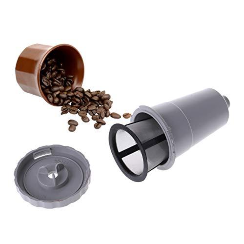 Chuhe - Wiederverwendbare Kaffeefilter-Kapsel-Schalen-Edelstahl-Masche Gefüllte Sieb-Werkzeuge
