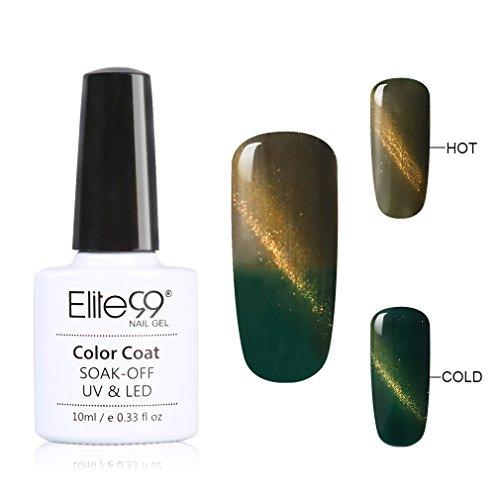 Elite99 Vernis Cameleon et L'oeil-de-chat Chatoyant Gel UV Semi Permanent Soak Off Manucure Nail Art 10ml 79001