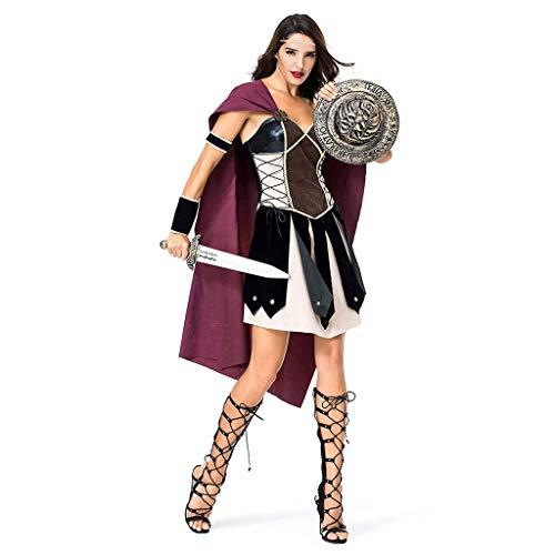 Costume da festa in costume da donna di halloween spartan warrior female dress up costume da gladiatore antico arena romana, m, l, xl ygdh (size : m)