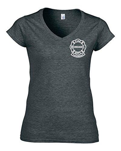 aramedic - T-Shirt für Frauen (V-Ausschnitt) (S, DarkHeather) ()