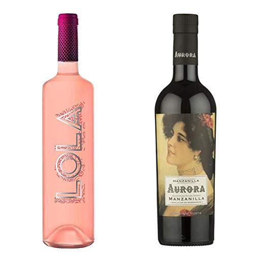 Lola Rosado Y Manznailla Aurora - D. O. Campo De Borja Y D. O. Manzanilla De Sanlúcar De Barrameda - 2 Botellas De 750 Ml