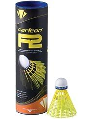 Carlton F2 Volants de badminton Jaune Tube de 6