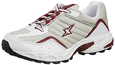 Sparx Men's Silver and Red Running Shoes - 8 UK (SM-04)