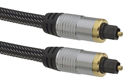 aricona Toslink auf Toslink Kabel – Digitales Audiokabel für HiFi- und Heimkino Systeme / 3 Meter