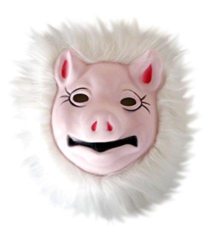 Inception Pro Infinite Maske für Kostüm - Verkleidung - Karneval - Halloween - Schwein Ferkel rosa Farbe - Erwachsene - Unisex - Frau - Mann - Jungen
