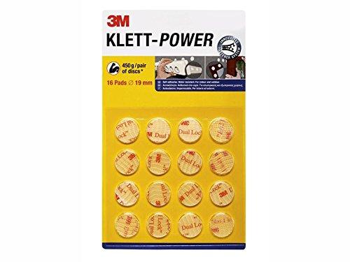 Preisvergleich Produktbild Klett-Power Pads - Durchmesser: 19mm · selbstklebend · wasserfest - für Innen und Außen