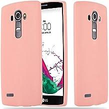 Cadorabo - Cubierta protectora LG G4 de silicona TPU en diseño Candy - Case Cover Funda Carcasa Protección en CANDY-ROSA