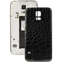 ALSATEK Remplacement Coque Arrière Origine Galaxy S5/G900 Motif Crocodile Noir